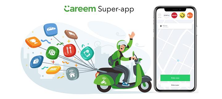 تطبيق كريم super app