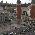 إضراب سائقي الأجرة في برشلونة تزامنًا مع عودة خدمات أوبر للمدينة